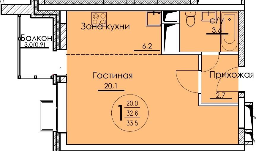 2-я секция_1-комн-студия_33,50_8-я